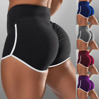 ❤️ Womens High Waist Yoga Shorts Push Up Casual Sports Workout Fitness Hot Pants