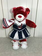 💜 Build A Bear Cleveland Indians Chief Wahoo Red White Bear Cheerleader 💜 Rare