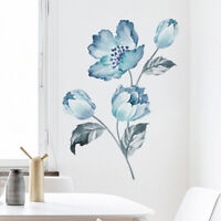 UK_ IC- DI- Orchid Flower Self Adhesive Mural Wall Sticker Living Room Backgroun