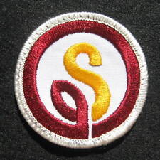 S ~ INITIAL LOGO EMBROIDERED SEW ON  PATCH UNIFORM ADVERTISING BADGE 2 1/2""