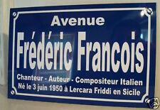 Frederic FRANCOIS  plaque création originale édition limitée cadeau collectionn