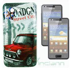 2x Pellicola+Custodia rigida LONDRA Inghilterra p Samsung Galaxy S Advance i9070