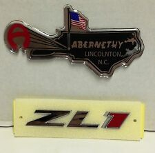 GM# 22830717 OEM ZL1 Grille Emblem (Chrome/Red) for Camaro by Chevrolet