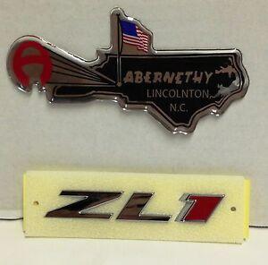 2012-2015 Chevrolet Camaro ZL1 OEM Chrome & Red GM Grille Emblem OEM NEW GM