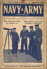 1915 WWI ~ COASTGUARDS ON LOOK OUT DUTY TELESCOPE  ~ MAGAZINE FRONT COVER