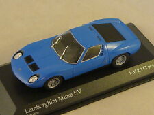 MINICHAMPS 400103650 - LAMBORGHINI MIURA SV - 1971  bleu 1/43