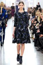 ERDEM  Blue Lily Pelham Dress Sz:6 USA Retail $3,895 NEW