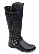 Legroom UK 6 E Fit Black Quilted High Leg Brand New Boots (Product No NS359E)