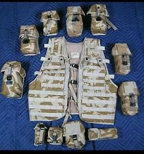 PRICED TO CLEAR/Osprey Mk1 British Military Molle Vest/Desert DPM/11 Pouches