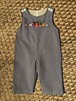 baby boy clothes 3T Long Overalls Embroidered Farm Animals/Barn