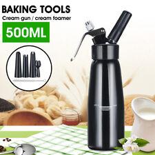 500ML Cream Whipper Dessert Butter Foam Maker Dispenser + Nozzle+ Cleaning Brush