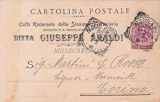 REGGIO EMILIA - Caffè Ristorante della Stazione Ferroviaria Araldi 1907