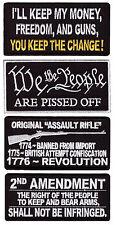 LOT OF HOELAND 2nd Amendment ASSULT RIFLE 4PC GUN OWNER PATCH