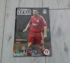 122) Liverpool v Aston Villa premier league 21-1-2008