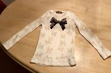Girls Cream And Beige Long Sleeved Top