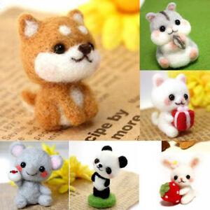 Non-Finished Animal Doll Wool Felt Poked Kitting Handcarft Wool Felting Mater^lk