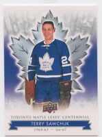 2017 UPPER DECK TORONTO MAPLE LEAFS CENTENNIAL BASE #57 TERRY SAWCHUK *50537