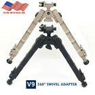 "V9 Rifle Bipod 7.25- 9"" Shooting Swivel Adjustable QD Rail Mount Hunting【us】"