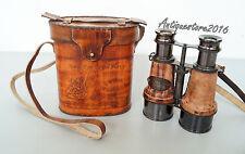 Telescopio de cobre amarillo antiguo vintage 8 pulgadas mano extendiendo naval Victoriano Antiguo Piratas Objetos antiguos
