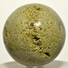"2.25"" Natural Green EPIDOTE Sphere Polished Pistacite Crystal Mineral from PERU"