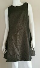 MADE Fashion Week for IMPULSE Black Gold Cut Out Back Tweed Dress - Size L
