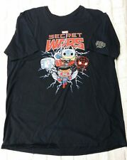 Marvel Funko Pop T-Shirt Mens XL Secret Wars Thor Spiderman Falcon Black Tee