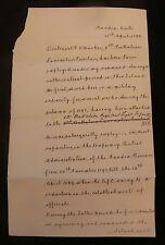 Crete - Herbert Chermside 1899 Document Signed as British Military Commissioner