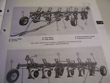 Vintage John Deere Operators Manual -Model # 3200 Moldboard Plow- 1975