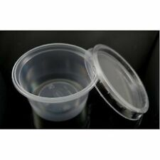 4oz Clear Plastic ROUND Containers+Lids DeliPots Sauce / HIGH QUALITY