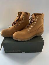 Men's Timberland 6-Inch Wheat Nubuck Basic Waterproof Boots Size 11.5