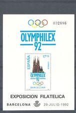 1992 PRUEBA OFICIAL EDIFIL 26 OLYMPHILEX 92 BARCELONA AROS OLIMPICOS     TC11061