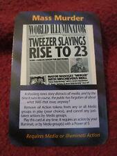 Mass Murder - Illuminati New World Order INWO Limited Edition Rare plot card