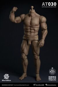 "WorldBox AT030 12"" Male Muscular Figure Body Model For 1/6 Man Head Sculpt"
