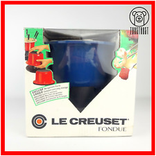 Le creuset fondue fonte émail pot France W Support Fourche Bleu no Stick