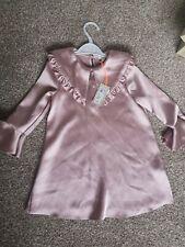 Baby Girl Toddler River Island Pink Ruffle Collar Dress Age 2-3