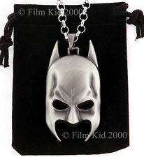 BATMAN MASCHERA VISO COLLANA CATENA CIONDOLO DARK KNIGHT SUPEREROI COMICS SILVER