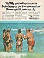 1969 Original Advertising' Aerolineas Argentinas Company Aerial Copacabana