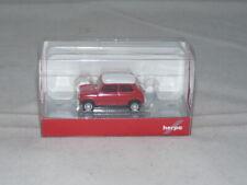 herpa 420471 Mini Cooper mit Zusatzscheinwerfern - rot 1:87 NEU + OVP