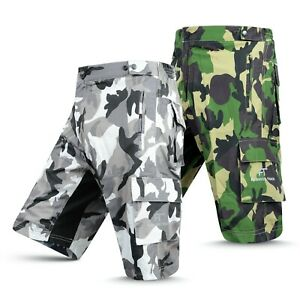 MTB Cycling Shorts Downhill Off Road inner Shorts Camo With CoolMax Padded Liner
