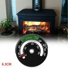 1X Magnetic Wood Log Burner Oven Stove Flue Pipe Temperature Thermometer Gauge