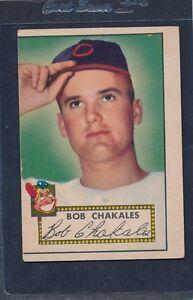 1952 Topps #120 Bob Chakales Indians Fair 52T120-81716-1
