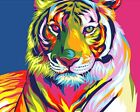 Psychedelic Tiger Cute Art Sticker or Magnet