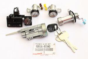 Toyota Land Cruiser FJ80 FZJ80 HZJ80 OEM Ignition Cylinder Door Lock Keys SET