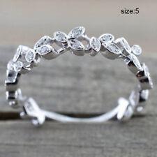 Finger Ring Hoop Leaf Vintage Simple Ring For Women Bride Wedding Engagement