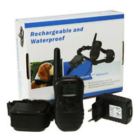 Rechargeable Waterproof 330yd Remote Dog Training Shock Collar for 1 dog/2 dogs