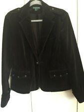 RALPH LAUREN Jeans Co. Equestrian Brown Cot Corduroy Jacket LARGE Horse Buttons