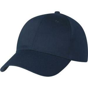 Mens Classic Plain Adjustable Baseball Caps - WORK CASUAL SPORTS LEISURE