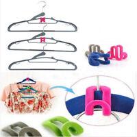 Magic Clothing Hanger Closet Organizer Space Saver Rack Clothes Hook-Hot 10Pcs
