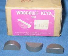 "Lot of 45 Standard Lock Washer Co. Woodruff Keys #152 Size 3/8""x1"" - NEW"