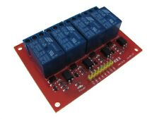 "4 Channel 5VDC Optoisolated Relay Board Module 0.1"" Pin Screw Terminal"